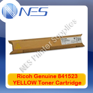 Ricoh Genuine 841523 YELLOW Toner Cartridge for MP-C2030/MP-C2050/MP-C2051/MP-C2501/MP-C2530 (9.5K)