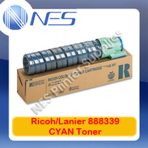 Lanier/Ricoh Genuine 888339 CYAN Toner Cartridge for LP126CN/LP125CX/SPC410DN/SPC411DN/SPC420DN (15K)