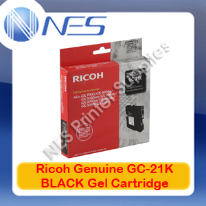 Ricoh Genuine 405532 BLACK Gel Ink Cartridge for GX7000/GX5050N/GX3050SFN/GX3000S (GC-21K) 1.5K