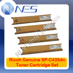 Ricoh Genuine 821251-821254 BK/C/M/Y (Set of 4) Toner Cartridge for SP-C435DN