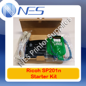 Ricoh Genuine Starter Kit with Toner Cartridge+USB+Power Cable for SP201n Printer