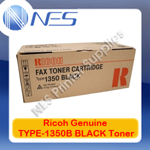 Ricoh Genuine TYPE-1350B BLACK Toner Cartridge for FAX-3320L/FAX-3310L/FAX-4410L (5K)