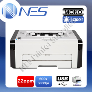 Ricoh SP213NW A4 Mono Laser USB/Network Printer 22PPM+AUS Warranty (PN:R407594)