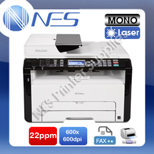 Ricoh SP-213SFNW 4-in-1 Mono Laser Multifunction Network Printer+FAX 22PPM (P/N:R407599)