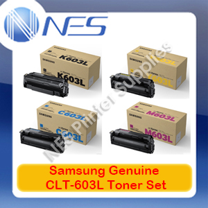Samsung Genuine CLT-603L BK/C/M/Y (Set of 4) Toner Cartridge for SL-C4010/SL-C4060