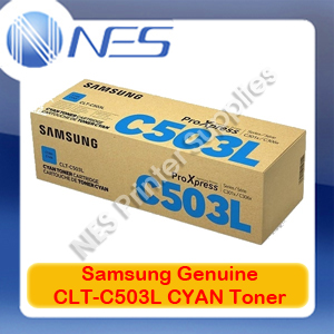Samsung Genuine CLT-C503L CYAN Toner Cartridge for SL-C3010ND/SL-C3060FR (SU016A)