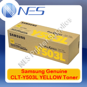 Samsung Genuine CLT-Y503L YELLOW Toner Cartridge for SL-C3010ND/SL-C3060FR (SU493A)