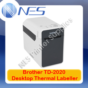 Brother TD-2020 PC-Connectable Desktop Thermal Printer 152mm/sec 56mm Wide Label