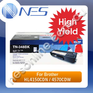 Brother Genuine TN348BK Black High Yield Toner Cartridge for DCP-9055CDN/HL-4150CDN/HL-4570CDW/MFC-9460CDN/MFC-9970CDW TN-348BK (6K Yield)