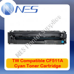 TW Compatible #204A CYAN Toner Cartridge for HP M181fw/M180n/M154nw [CF511A]
