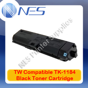 TW Compatible TK-1184 BLACK Toner Cart for Kyocera M2635DN/M2735DW 3k