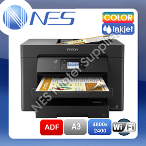 Epson Workforce WF-7710 Free Upgrade WF-7830 Wifi Multifunction A4/A3 Inkjet Printer Duplex & ADF (C11CH68501)