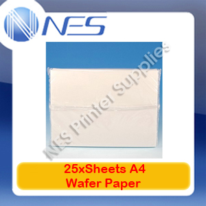 25x Sheets A4 Rice and Wafer Paper for Edible Ink Printing Cake/Food Decorating