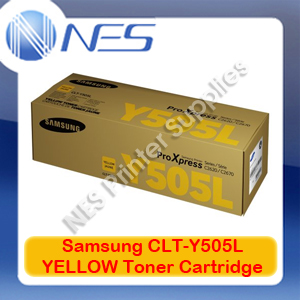 Samsung Genuine CLT-Y505L YELLOW High Yield Toner Cartridge for SL-C2620DW/SL-C2670FW/SL-C2680FX (3.5K) SU513A