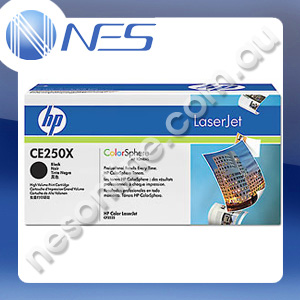 HP Genuine CE250X BLACK High Yield Toner Cartridge for HP LaserJet CM3530 MFP/CM3530fs MFP/CP3525/CP3525dn/CP3525n/CP3525x (10K Yield)