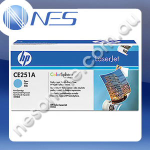 HP Genuine CE251A CYAN Toner Cartridge for HP LaserJet CM3530 MFP/CM3530fs MFP/CP3525/CP3525dn/CP3525n/CP3525x (7K Yield)
