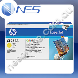 HP Genuine CE252A YELLOW Toner Cartridge for HP LaserJet CM3530 MFP/CM3530fs MFP/CP3525/CP3525dn/CP3525n/CP3525x (7K Yield)