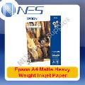 "Epson A4 Matte Heavy Weight Inkjet Paper 50xSheets 167GSM 8.3""x11.7"" [S041256]"